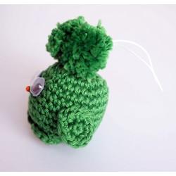 Piou-piou / oiseau vert réalisé au crochet