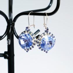 Boucles d'oreilles bleues /...