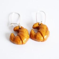 Boucles d'oreilles gourmandes en forme de croissants