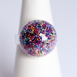 Bague multicolore en...