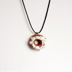 Pendentif gourmand donuts multicolore