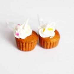 Boucles d'oreilles gourmandes cupcakes