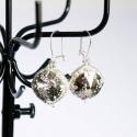 Boucles d'oreilles fantaisie tâchetées à reflets dorés en cristal de Swarovski