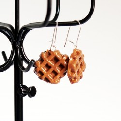 "Handmade Earrings ""Belgium Waffle"""