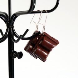 Handmade Earrings chocolate