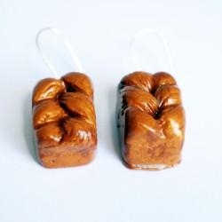 Boucles d'oreilles gourmandes brioches vendéennes