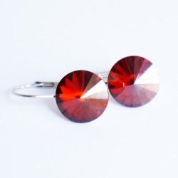 Delicate red crystal earrings