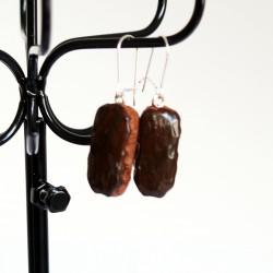 Boucles d'oreilles gourmandes éclairs au chocolat