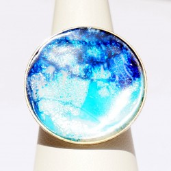 Handmade blue ring