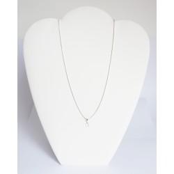 Très petit pendentif rond en cristal de Swarovski transparent et chaîne en argent