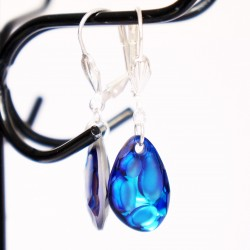 Blue Swarovski crystal drop...
