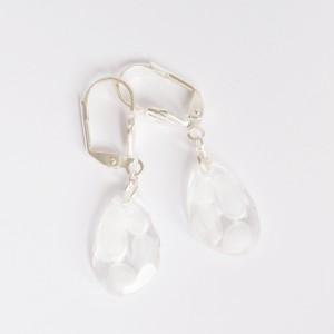 Boucles d'oreilles pendantes bleues en cristal de Swarovski