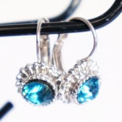 Boucles d'oreilles pendantes turquoises