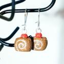 Boucles d'oreilles gâteaux roulés (ou bûches de Noël)