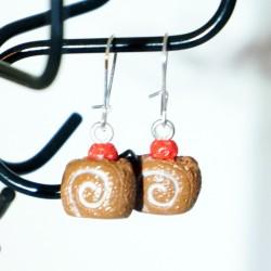 """Pains au chocolat""earrings"