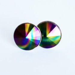 Dark and rainbow earrings