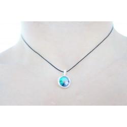c2c06bd1e8b17 Rainbow/multi-colored Swarovski crystal small round pendant