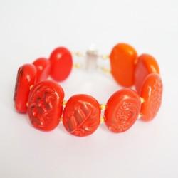 Orange bracelet handmade