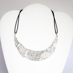 Handmade black and white necklace in polymer clay