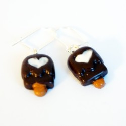 Chocolate popsicle earrings