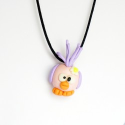 Purple bird pendant