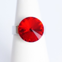 """Ruby"" red Swarovski..."