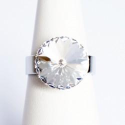 """Bague """"diamant"""" en cristal de Swarovski"""