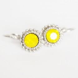 Boucles d'oreilles pendantes jaunes