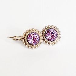 Boucles d'oreilles pendantes violettes claires