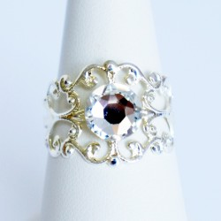 Adjustable baroque ring