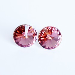 copy of Black stud earrings with rainbow sparkle