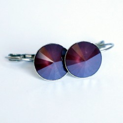 Garnet earrings (dark red)