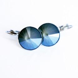 Grey drop earrings