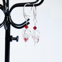 Transparent skull earrings