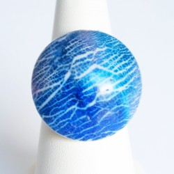 Blue handmade ring