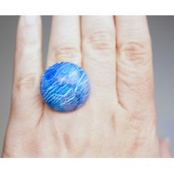 Bague bleue fait-main