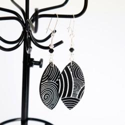 Black & white earrings