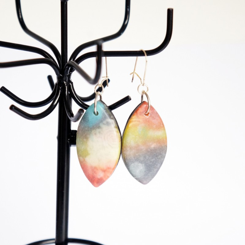 Long multicoloured earrings
