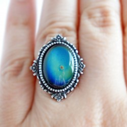 Blue mood ring