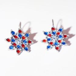 copy of Blue star or flower earrings
