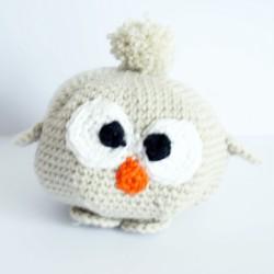 copy of Hibou (ou chouette) gris et beige réalisé au crochet