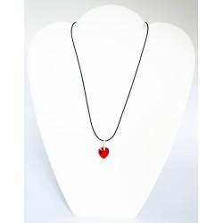 Pendentif coeur rouge en cristal de Swarovski