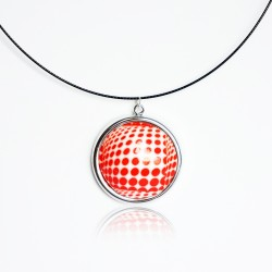 Red polka dot pendants