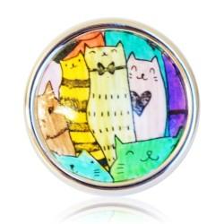 Bague petits chats multicolores