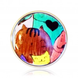 copy of Bague petits chats multicolores