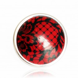 Red and black lace ring