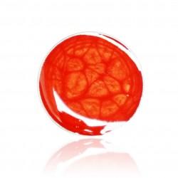 Grande bague rouge avec des effets écailles