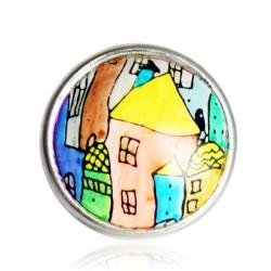 Bague maisons multicolores