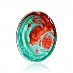 Red and green fashion jewelery ring