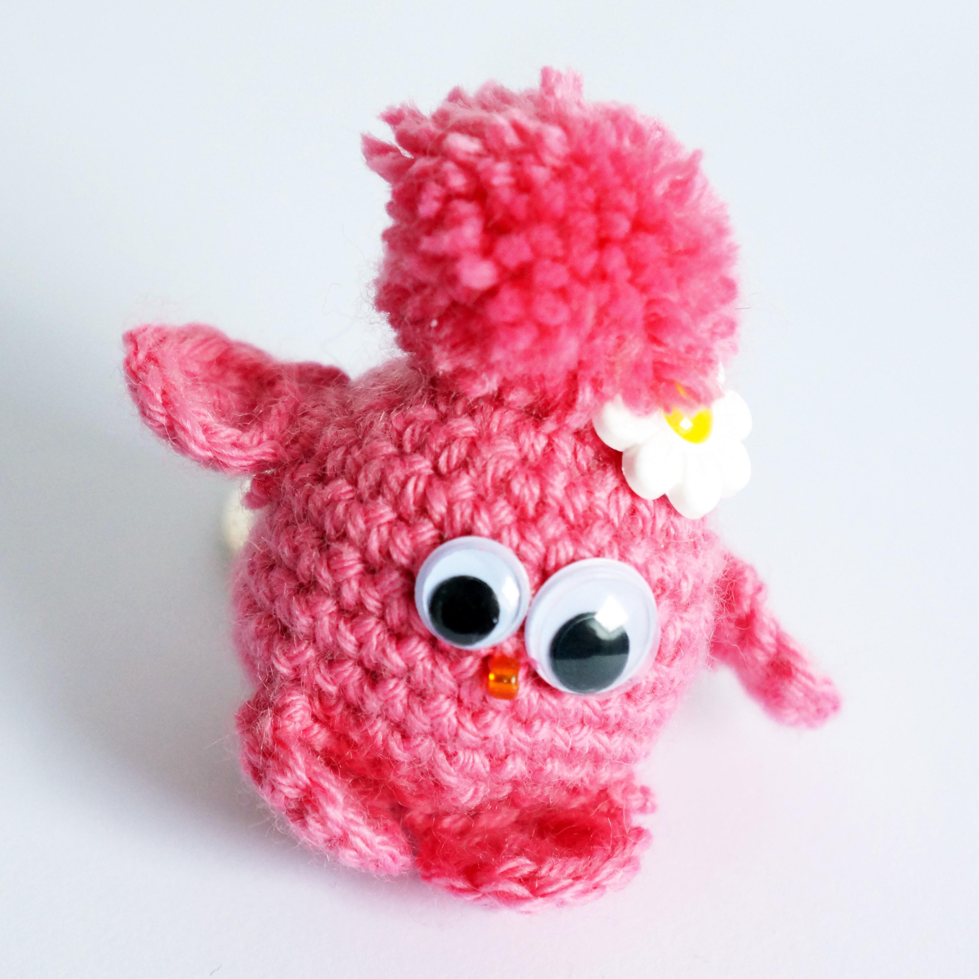 Porte cl piou piou rose petit oiseau les bijoux du nibou - Porte cle crochet ...